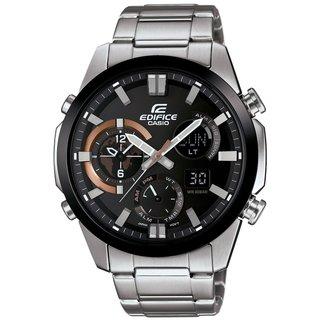 Casio G-Shock Men's ERA500DB-1A Edifice Analog-Digital Dial Stainless Steel Bracelet Watch
