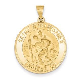 Versil 14k Yellow Gold Saint Christopher Medal Pendant
