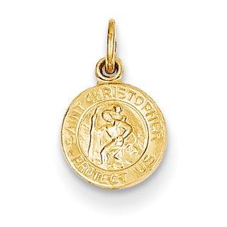 Versil 14 Karat Yellow Gold Saint Christopher Medal Charm