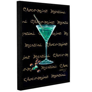 ArtWall Janet Kruskamp's Choco-Mint Martini, Gallery Wrapped Floater-framed Canvas