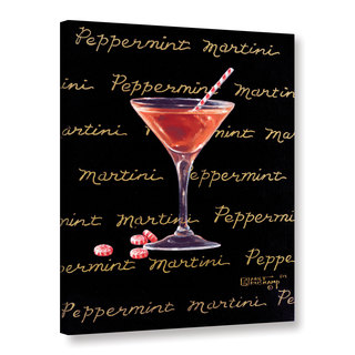 ArtWall Janet Kruskamp's Peppermint Martini, Gallery Wrapped Canvas