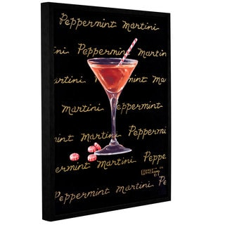 ArtWall Janet Kruskamp's Peppermint Martini, Gallery Wrapped Floater-framed Canvas