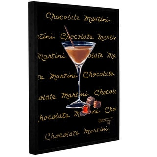 ArtWall Janet Kruskamp's Chocolate Martini, Gallery Wrapped Floater-framed Canvas