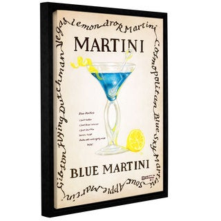 ArtWall Janet Kruskamp's Blue Martini, Gallery Wrapped Floater-framed Canvas