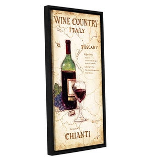 ArtWall Janet Kruskamp's Wine Country IV, Gallery Wrapped Floater-framed Canvas