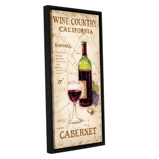 ArtWall Janet Kruskamp's Wine Country II, Gallery Wrapped Floater-framed Canvas