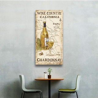 ArtWall Janet Kruskamp's Wine Country I, Gallery Wrapped Canvas