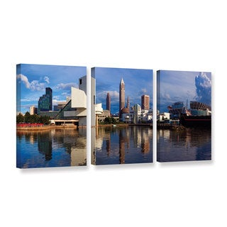 ArtWall Cody York's Cleveland 20, 3 Piece Gallery Wrapped Canvas Set