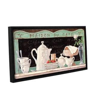 ArtWall Janet Kruskamp's Maison Du Café, Gallery Wrapped Floater-framed Canvas