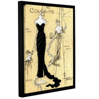 ArtWall Janet Kruskamp's Couture I, Gallery Wrapped Floater-framed Canvas