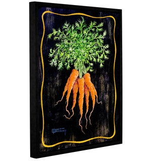 ArtWall Janet Kruskamp's Bouquet Of Carrots, Gallery Wrapped Floater-framed Canvas