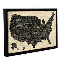 ArtWall Studio Pela's USA, Gallery Wrapped Floater-framed Canvas