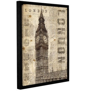ArtWall Michael Mullan's Vintage London, Gallery Wrapped Floater-framed Canvas
