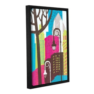 ArtWall Michael Mullan's Vibrant City, Gallery Wrapped Floater-framed Canvas