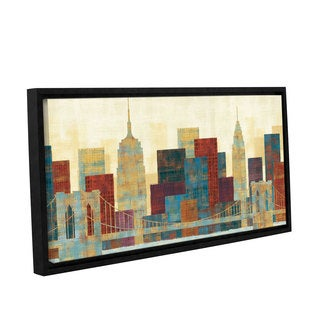 ArtWall Michael Mullan's Majestic City, Gallery Wrapped Floater-framed Canvas