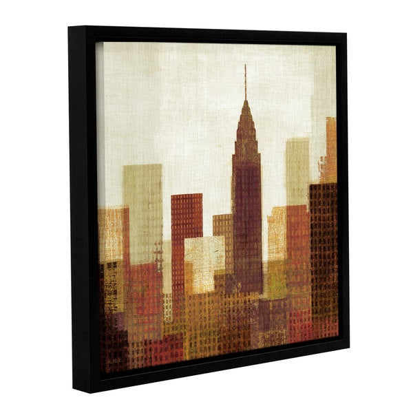 ArtWall Michael Mullan's Summer In The City 3, Gallery Wrapped Floater-framed Canvas