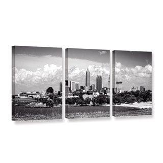 ArtWall Cody York's Cleveland Panorama 1, 3 Piece Gallery Wrapped Canvas Set