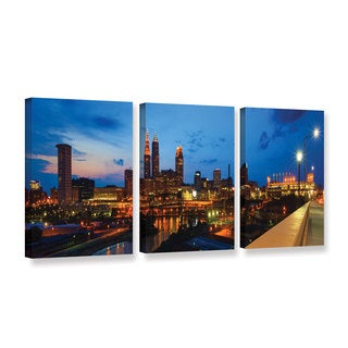 ArtWall Cody York's Cleveland 8, 3 Piece Gallery Wrapped Canvas Set