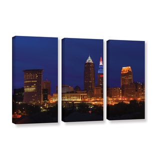ArtWall Cody York's Cleveland 5, 3 Piece Gallery Wrapped Canvas Set