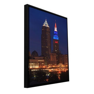 ArtWall Cody York's Cleveland 4, Gallery Wrapped Floater-framed Canvas