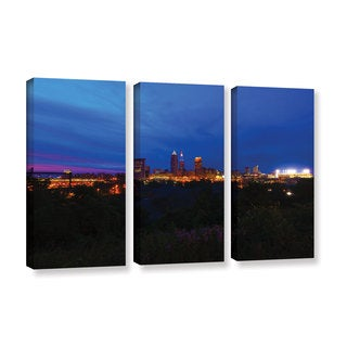 ArtWall Cody York's Cleveland 3, 3 Piece Gallery Wrapped Canvas Set