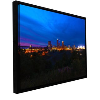 ArtWall Cody York's Cleveland 3, Gallery Wrapped Floater-framed Canvas
