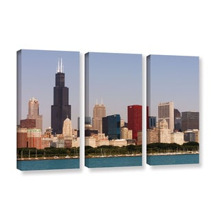 ArtWall Cody York's Chicago, 3 Piece Gallery Wrapped Canvas Set