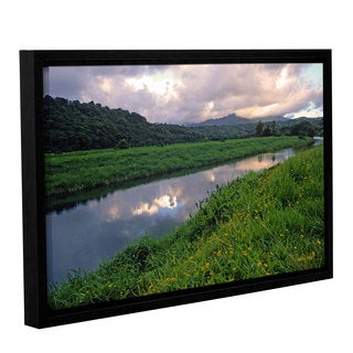 ArtWall Kathy Yates's Hanalei River Reflections, Gallery Wrapped Floater-framed Canvas