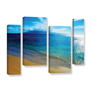 ArtWall Kathy Yates's Blue Hawaii, 4 Piece Gallery Wrapped Canvas Staggered Set