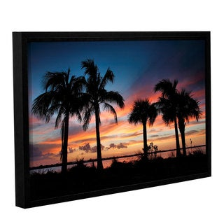 ArtWall Steve Ainsworth's Tropical Sunset II, Gallery Wrapped Floater-framed Canvas
