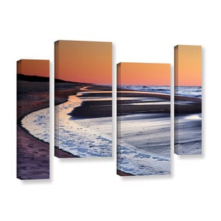 ArtWall Steve Ainsworth's Tide Pools at Sunrise, 4 Piece Gallery Wrapped Canvas Staggered Set
