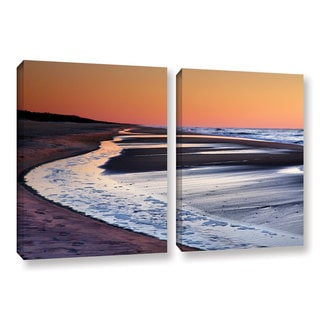 ArtWall Steve Ainsworth's Tide Pools at Sunrise, 2 Piece Gallery Wrapped Canvas Set
