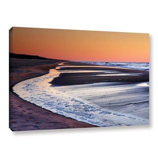 ArtWall Steve Ainsworth's Tide Pools at Sunrise, Gallery Wrapped Canvas
