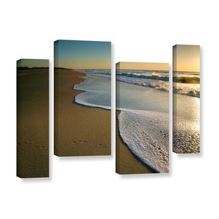 ArtWall Steve Ainsworth's Surf and Sand, 4 Piece Gallery Wrapped Canvas Staggered Set