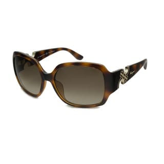 Ferragamo Women's SF642S Rectangular Sunglasses
