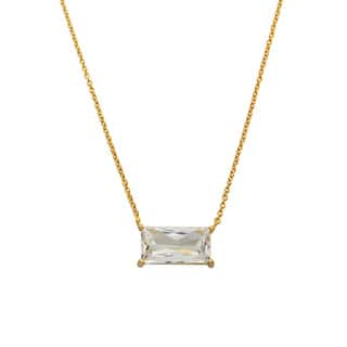 Eternally Haute Rhodium-plated or 14k Goldplated Cubic Zirconia Emerald Cut Necklace|https://ak1.ostkcdn.com/images/products/11326756/P18303062.jpg?impolicy=medium