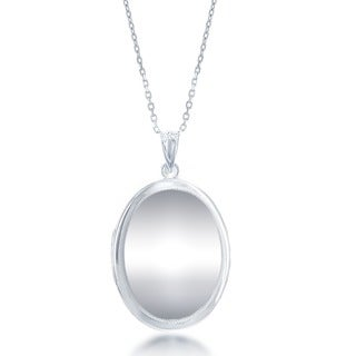 La Preciosa Sterling Silver Oval High Polish Locket