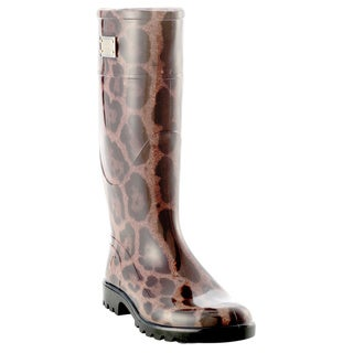 Dolce & Gabbana Women's Leopard Rubber Rainboots (2 options available)