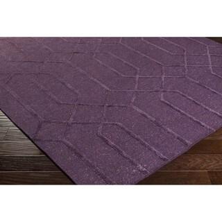 Hand-Knotted Dereham Geometric Indoor Wool Area Rug