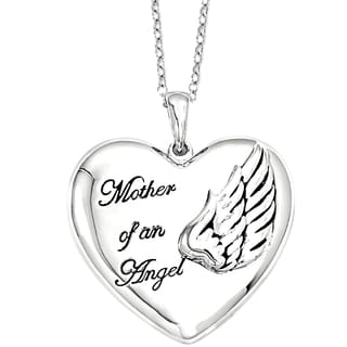 Versil Sterling Silver Mother of an Angel Necklace