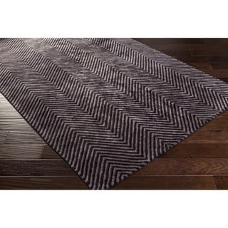 Hand-Woven Halifax Chevron Viscose Area Rug