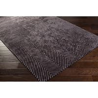 Hand-Woven Halifax Chevron Viscose Area Rug (6' x 9')