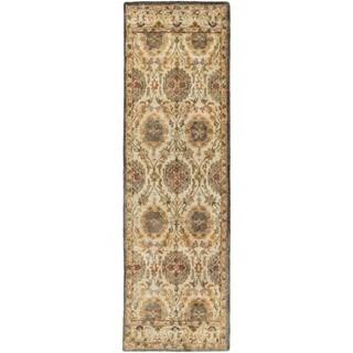 Hand-Tufted Matlock Border Indoor Wool Rug (2'6 x 8')