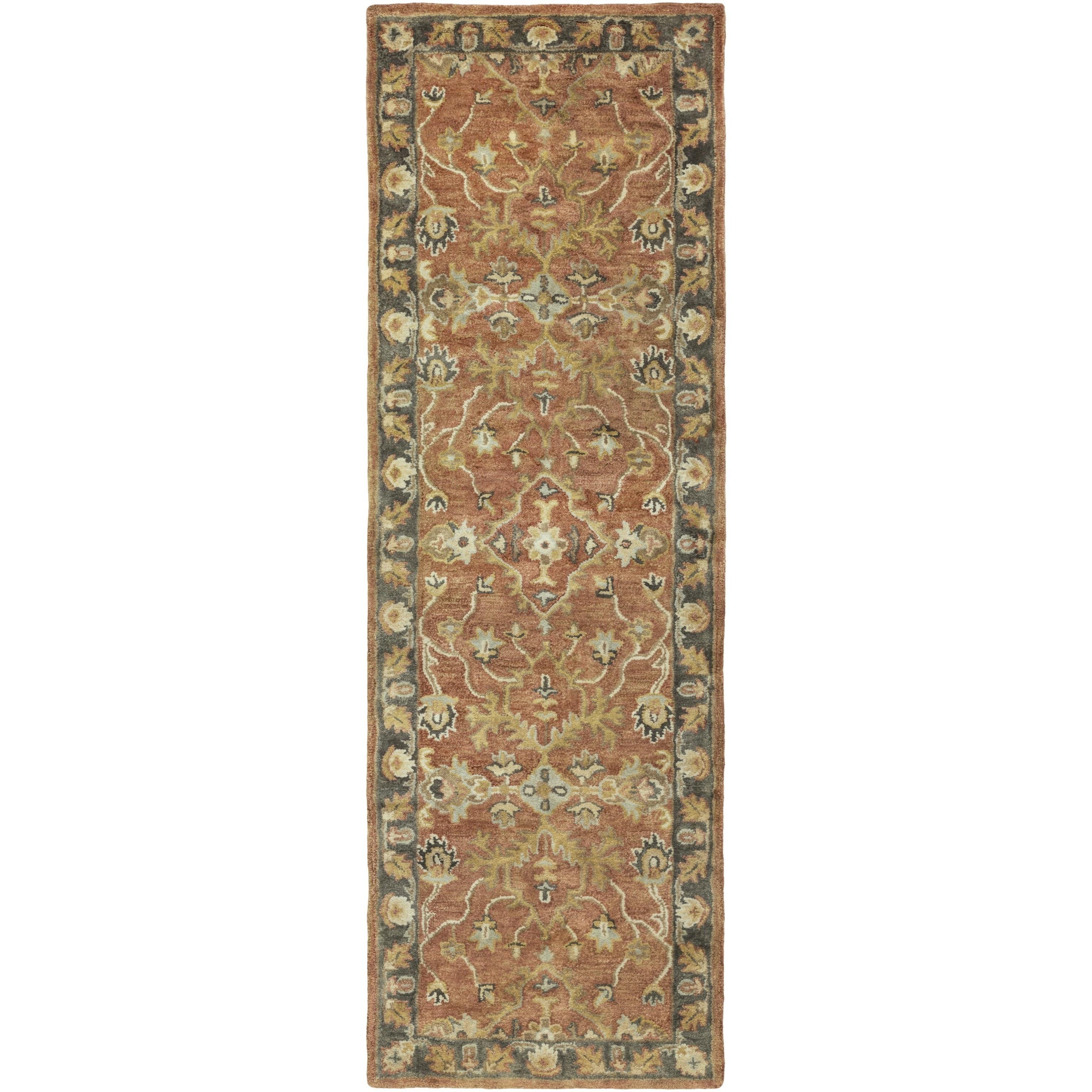 Hand-Tufted Morpeth Border Indoor Wool Rug (2'6 x 8') (Ol...