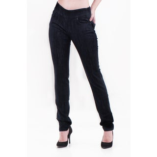 Bluberry Denim Women's Plus Size Straight Leg Denim Pants