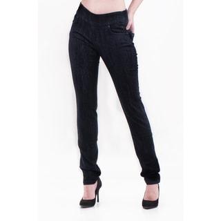 Bluberry Denim Women's Plus Size Straight Leg Denim Pants