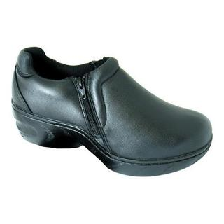Women's Genuine Grip Footwear Slip-Resistant Slip-on Zipper Black