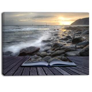 Shop Designart Open Book To The Evening Sea Contemporary