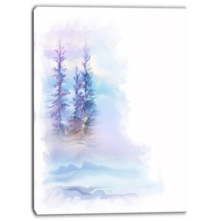Designart - Watercolor Trees - Landscape Canvas Art Print