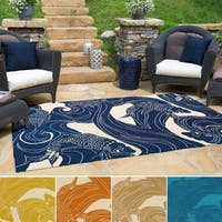 The Curated Nomad Montego Hand-hooked Coastal Area Rug - 5' x 8'